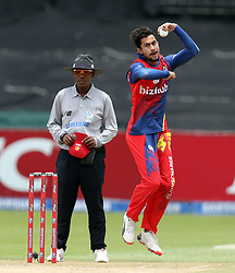 Bjorn Fortuin of the Bizhub Highveld Lions during the T20 Challenge cricket match between the Lions and the Warriors at the Kingsmead stadium in Durban, KwaZulu Natal, South Africa on the 4th December 2016<br /> <br /> Photo by:   Steve Haag / Real Time Images