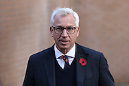 Crystal Palace Manager Alan Pardew arrives at the stadium. Premier League match, Burnley v Crystal Palace at Turf Moor in Burnley , Lancs on Saturday 5th November 2016.<br /> pic by Chris Stading, Andrew Orchard sports photography.