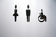 toilet door with female male and handicap sign