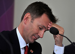 © Licensed to London News Pictures. File picture dated. 18/04/2012.  Secretary of State for Culture, Olympics, Media and Sport JEREMY HUNT who is to be investigated by the Parliamentary Standards Commissioner over claims he failed to register donations from media firms, it has been announced. Pictured at a press conference at Kew Gardens in West London today 18 April 2012 to mark 100 days to go until the opening of the Olympics in London. Photo credit : Stephen Simpson/LNP