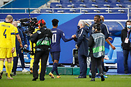 Didier Deschamps (FRA) greeted Kingsley Coman (FRA) at the end of the game during the UEFA Nations League football match between France and Sweden on November 17, 2020 at Stade de France in Saint-Denis, France - Photo Stephane Allaman / ProSportsImages / DPPI