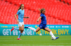 Melanie Leupolz of Chelsea Women clears the ball- Mandatory by-line: Nizaam Jones/JMP - 29/08/2020 - FOOTBALL - Wembley Stadium - London, England - Chelsea v Manchester City - FA Women's Community Shield