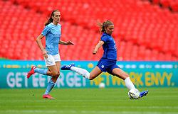 Melanie Leupolz of Chelsea Women clears the ball- Mandatory by-line: Nizaam Jones/JMP - 29/08/2020 - FOOTBALL - Wembley Stadium - London, England - Chelsea v Manchester City - FA Women's Community Shield