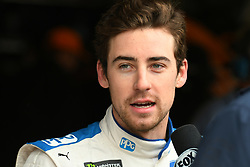 February 23, 2019 - Hampton, GA, U.S. - HAMPTON, GA - FEBRUARY 23: Ryan Blaney, Team Penske, Ford Mustang PPG (12) gives an interview during practice for the Monster Energy Cup Series QuikTrip Folds of Honor 500 on February 23, 2019, at Atlanta Motor Speedway in Hampton, GA.(Photo by Jeffrey Vest/Icon Sportswire) (Credit Image: © Jeffrey Vest/Icon SMI via ZUMA Press)