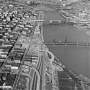Y-580311-D08.  Portland bridges & Waterfront March 11, 1958