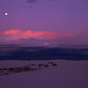 Gypsum dunes in White Sands National Park, New Mexico.