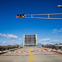 The Rumson - Sea Bright Bridge in the open position.   This span will be replaced due to it's deteriorated condition.
