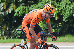 March 24, 2018 - Polish cyclist Lukasz Owsian from CCC Sprandi Polkowice Team in action during the seventh stage, the 222.4 km from Nilai to Muar, of the 2018 Le Tour de Langkawi. .On Saturday, March 24, 2018, in Muar, Malaysia. (Credit Image: © Artur Widak/NurPhoto via ZUMA Press)