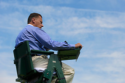 LONDON, ENGLAND - Wednesday, June 23, 2010: An Umpire during the Gentlemen's Singles 2nd Round on day three of the Wimbledon Lawn Tennis Championships at the All England Lawn Tennis and Croquet Club. (Pic by David Rawcliffe/Propaganda)