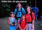 Outdoor Recreation, Family Camping Portrait, Little Buffalo State Park, PA.