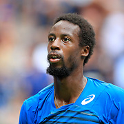 2016 U.S. Open - Day 12  Gael Monfils of France during his match against Novak Djokovic of Serbia in the Men's Singles Semifinal match on Arthur Ashe Stadium on day twelve of the 2016 US Open Tennis Tournament at the USTA Billie Jean King National Tennis Center on September 9, 2016 in Flushing, Queens, New York City.  (Photo by Tim Clayton/Corbis via Getty Images)