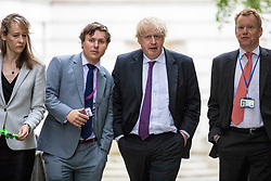 © Licensed to London News Pictures. 04/06/2018. London, UK. Foreign Secretary Boris Johnson (3-L) on Downing Street. Photo credit: Rob Pinney/LNP