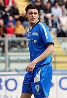 """Nicola Pozzi (Empoli)<br /> Italian """"Serie A"""" 2006-07 <br /> 01 Apr 2007 (Match Day 30)<br /> Empoli-Ascoli (4-1)<br /> """"Castellani"""" Stadium-Empoli-Italy<br /> Photographer Luca Pagliaricci INSIDE"""