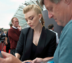 Edinburgh International Film Festival, Tuesday, 26th June 2018<br /> <br /> IN DARKNESS (EUROPEAN PREMIERE)<br /> <br /> Pictured:  Natalie Dormer meets the fans<br /> <br /> (c) Alex Todd | Edinburgh Elite media