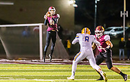 De Smet punter Luke Bauer leaps for a high snap during the Class 6 District 1 championship football game on Friday, Nov. 15, 2019, at De Smet High School in Creve Coeur, Mo.  Gordon Radford | Special to STLhighschoolsports.com
