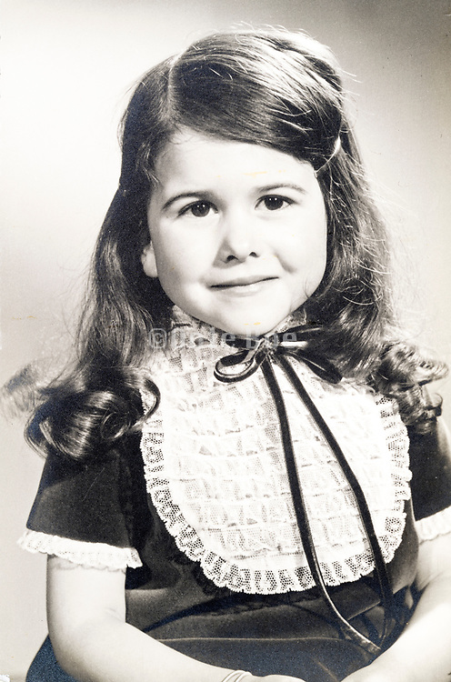 young girl formal studio portrait ca 1960s