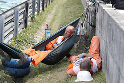 July 28, 2018 - Budapest, Hungary - Motorsports: FIA Formula One World Championship 2018, Grand Prix of Hungary, .. steward, Streckenposten, track marshal  (Credit Image: © Hoch Zwei via ZUMA Wire)