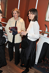 Left to right, VISCOUNTESS LINLEY and LADY SARAH CHATTO at the Linley Christmas party at Linley, 60 Pimlico Road, London on 20th November 2012.