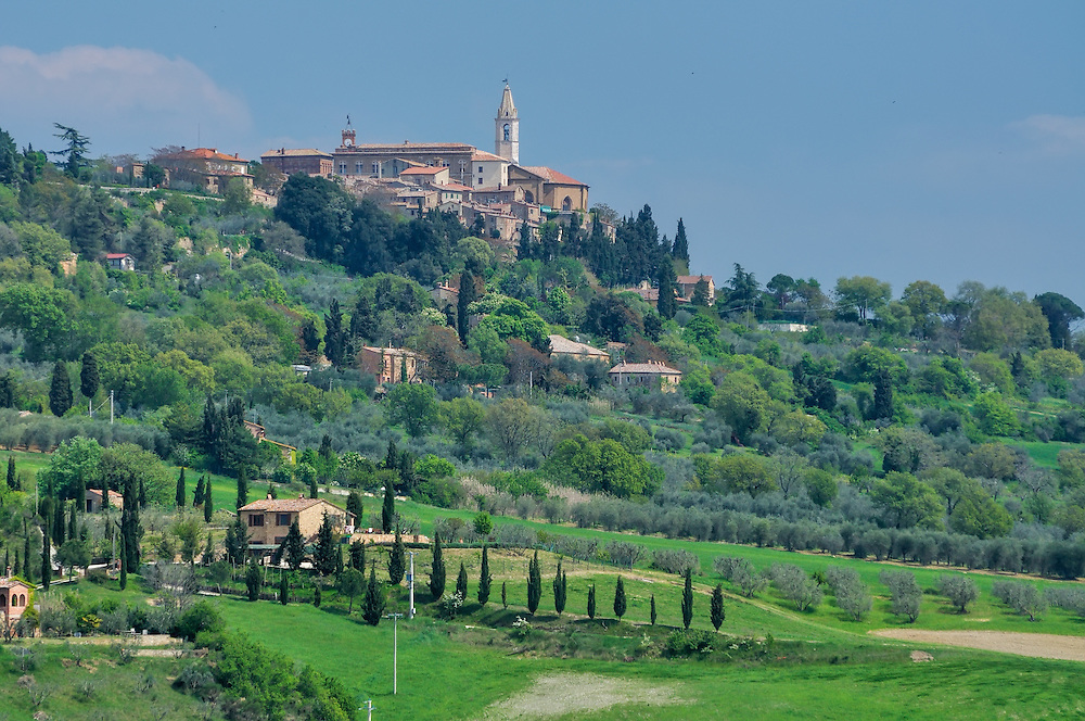 Hilltop village in Tuscany, Italy.