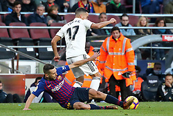 October 28, 2018 - Barcelona, Catalonia, Spain - Jordi Alba and Lucas Vazquez during the match between FC Barcelona and Real Madrid CF, corresponding to the week 10 of the Liga Santander, played at the Camp Nou, on 28th October 2018, in Barcelona, Spain. (Credit Image: © Joan Valls/NurPhoto via ZUMA Press)