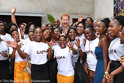 """Kensington Palace releases a photo on Twitter with the following caption: """"""""""""You have the knowledge and relatability that will inspire your generation to get started in a big or small way, unleashing a wave of talent right around the world."""" — The Duke of Sussex to @QueensComTrust @Camfed @CZ_social1 #RoyalVisitZambia"""""""". Photo Credit: Twitter *** No USA Distribution *** For Editorial Use Only *** Not to be Published in Books or Photo Books ***  Please note: Fees charged by the agency are for the agency's services only, and do not, nor are they intended to, convey to the user any ownership of Copyright or License in the material. The agency does not claim any ownership including but not limited to Copyright or License in the attached material. By publishing this material you expressly agree to indemnify and to hold the agency and its directors, shareholders and employees harmless from any loss, claims, damages, demands, expenses (including legal fees), or any causes of action or allegation against the agency arising out of or connected in any way with publication of the material."""