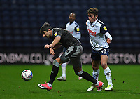 Preston North End's Ryan Ledson battles with Sheffield Wednesday's Callum Paterson<br /> <br /> Photographer Dave Howarth/CameraSport<br /> <br /> The EFL Sky Bet Championship - Preston North End v Sheffield Wednesday - Saturday 21st November 2020 - Deepdale - Preston<br /> <br /> World Copyright © 2020 CameraSport. All rights reserved. 43 Linden Ave. Countesthorpe. Leicester. England. LE8 5PG - Tel: +44 (0) 116 277 4147 - admin@camerasport.com - www.camerasport.com
