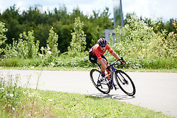 Elena Cecchini (ITA) in the move of the day at Stage 2 of 2019 OVO Women's Tour, a 62.5 km road race starting and finishing in the Kent Cyclopark in Gravesend, United Kingdom on June 11, 2019. Photo by Sean Robinson/velofocus.com