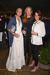 Left to right, Kalita Al Swaidi, Emily Candy and Camilla Harvey at The Ivy Chelsea Garden's Annual Summer Garden Party, The Ivy Chelsea Garden, 197 King's Road, London England. 9 May 2017.<br /> Photo by Dominic O'Neill/SilverHub 0203 174 1069 sales@silverhubmedia.com
