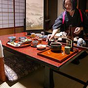 Serving dinner, Takayama, Japan (May 2004)