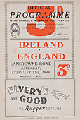 Rugby 1949-12/02 Five Nations Ireland Vs England