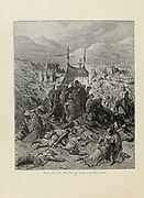 Battle of Dorylaeum [during the First Crusade on July 1, 1097, between the crusaders and the Seljuk Turks] Plate XVI from the book Story of the crusades. with a magnificent gallery of one hundred full-page engravings by the world-renowned artist, Gustave Doré [Gustave Dore] by Boyd, James P. (James Penny), 1836-1910. Published in Philadelphia 1892