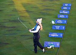 Solheim Cup 2019 at Centenary Course at Gleneagles in Scotland, UK. Bronte Law of European practice range on final day.