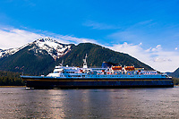 Alaska Ferry MV Matanuska (Alaska Marine Highway), Wrangell Narrows on the Inside Passage, Petersburg, Southeast Alaska USA