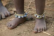 Young Mursi tribe Children. Debub Omo Zone, Ethiopia, close to the Sudanese border.