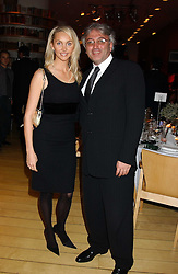 ROBERT TCHENGUIZ and his wife HEATHER at a Burns Night supper in aid of Clic Sargent & Children's Hospital Association Scotland hosted by Ewan McGregor, Sharleen Spieri and Lady Helen Taylor at St.Martin's Lane Hotel, 45 St Martin's Lane, London on 25th January 2006.<br /><br />NON EXCLUSIVE - WORLD RIGHTS