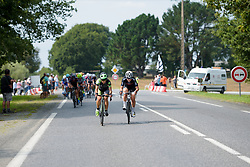 Rossella Ratto & Elisa Longo Borghini try to escape toward the end of lap 3 at Grand Prix de Plouay Lorient Agglomération a 121.5 km road race in Plouay, France on August 26, 2017. (Photo by Sean Robinson/Velofocus)