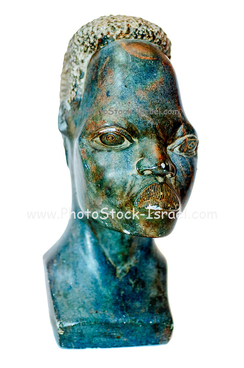 African Art, stone portrait of a female African bust, south Africa
