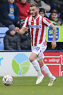 Stoke City defender Tom Edwards (30) during the The FA Cup 3rd round match between Shrewsbury Town and Stoke City at Greenhous Meadow, Shrewsbury, England on 5 January 2019.