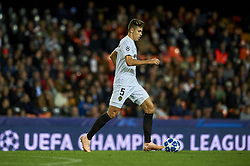 November 7, 2018 - Valencia, Spain - Gabriel of Valencia controls the ball during the Group H match of the UEFA Champions League between Valencia and Young Boys at Mestalla Stadium, Valencia on November 07 of 2018. (Credit Image: © Jose Breton/NurPhoto via ZUMA Press)