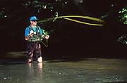 Trout fishing Yellow Breeches Creek,  Cumberland County, Pennsylvania