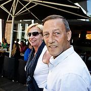NLD/Amsterdam/20100603 - Huwelijk voetbaltrainer Frank Rijkaard en voormalig kindermeisje Stefanie Rucker, Johan Neeskens en partner