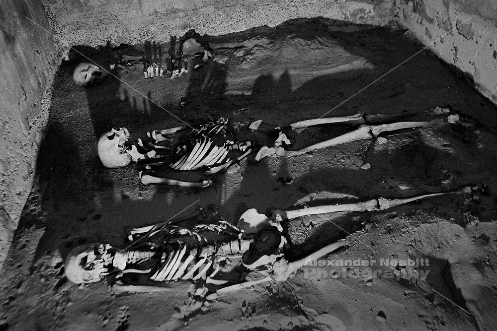 Cairo, Egypt, The City of the Dead - a typical burial inside a crypt