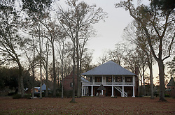 31 December 2014. Prairieville, Louisiana. <br /> The home of Kenny Knight, former leader of the European-American Unity and Rights Organization, or EURO, an entity founded by David Duke, the former Louisiana state representative and Ku Klux Klan leader. Kenny Knight was a political adviser to David Duke. Knight is also a friend of US Congressman Steve Scalise, who has become embroiled in a racism story regarding Scalise addressing a EURO meeting in 2002. The property is currently listed for sale at $930,000.<br /> Photo; Charlie Varley/varleypix.com