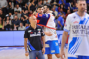 DESCRIZIONE : Campionato 2014/15 Dinamo Banco di Sardegna Sassari - Olimpia EA7 Emporio Armani Milano Playoff Semifinale Gara3<br /> GIOCATORE : Brian Sacchetti Alessandro Gentile<br /> CATEGORIA : Fair Play Before Pregame<br /> SQUADRA : Dinamo Banco di Sardegna Sassari<br /> EVENTO : LegaBasket Serie A Beko 2014/2015 Playoff Semifinale Gara3<br /> GARA : Dinamo Banco di Sardegna Sassari - Olimpia EA7 Emporio Armani Milano Gara4<br /> DATA : 02/06/2015<br /> SPORT : Pallacanestro <br /> AUTORE : Agenzia Ciamillo-Castoria/L.Canu