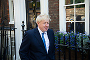 Boris Johnson leaves his campaign headquarters after he was announced as the new Conservative leader and Prime Minister, on 23rd July, 2019 in London, United Kingdom.
