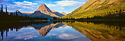 Sunrise on Two Medicine Lake in Glacier National Park, Montana