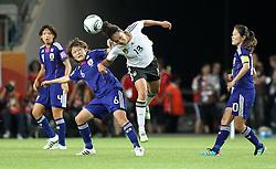 09.07.2011, Arena im Allerpark Wolfsburg , Wolfsburg ,  GER, FIFA Women Worldcup 2011, Viertelfinale ,   Germany (GER) vs Japan (JPN. im Bild Celia Okoyino Da Mbabi (GER) gegen Mizuho Sakaguchi (JPN)   //  during the FIFA Women Worldcup 2011, Quarterfinal, Germany vs Japan  on 2011/07/09, Arena im Allerpark , Wolfsburg, Germany.  .EXPA Pictures © 2011, PhotoCredit: EXPA/ nph/  Hessland       ****** out of GER / CRO  / BEL ******