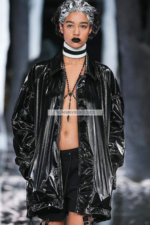 Damaris Goddrie walks the runway wearing PUMA x FENTY by Rihanna Fall 2016 during New York Fashion Week on February 12, 2016