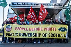 RMT Protest at Scottish Parliament, Edinburgh, 2 October 2019