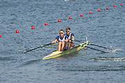 "Rio de Janeiro. BRAZIL.   GBR M2X Bow. Jonny WALTON and John COLLINS in their heat  at the 2016 Olympic Rowing Regatta. Lagoa Stadium,<br /> Copacabana,  ""Olympic Summer Games""<br /> Rodrigo de Freitas Lagoon, Lagoa.   Friday  05/08/2016 <br /> <br /> [Mandatory Credit; Peter SPURRIER/Intersport Images][Mandatory Credit; Peter SPURRIER/Intersport Images]"